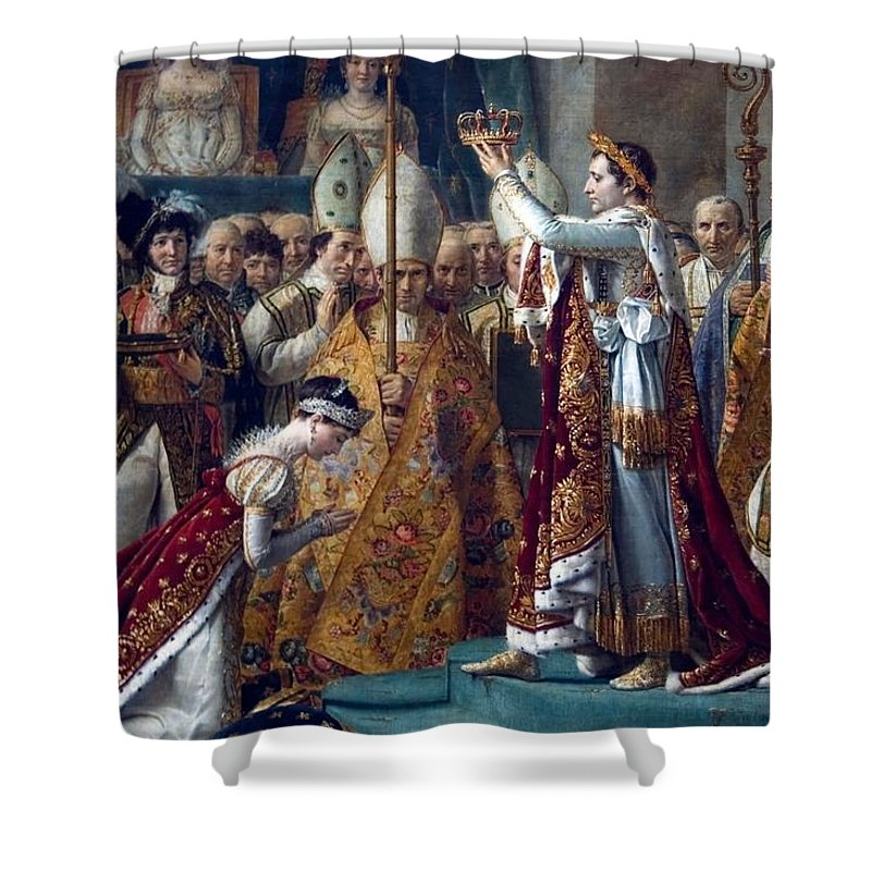 Napoleon-coronation Shower Curtain featuring the painting Napoleon Coronation by MotionAge Designs