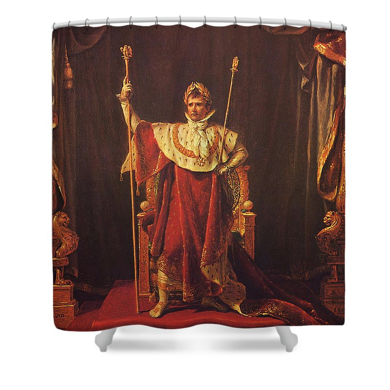 Napoleon Shower Curtain featuring the painting Napoleon by War Is Hell Store
