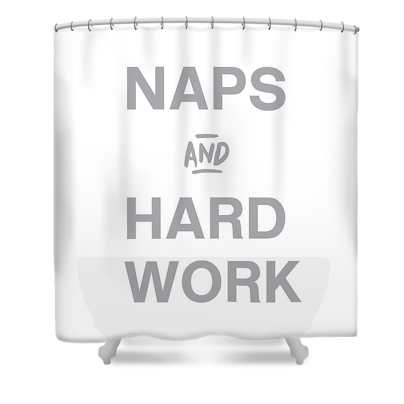 Naps Shower Curtain featuring the digital art Naps And Hard Work- Art By Linda Woods by Linda Woods