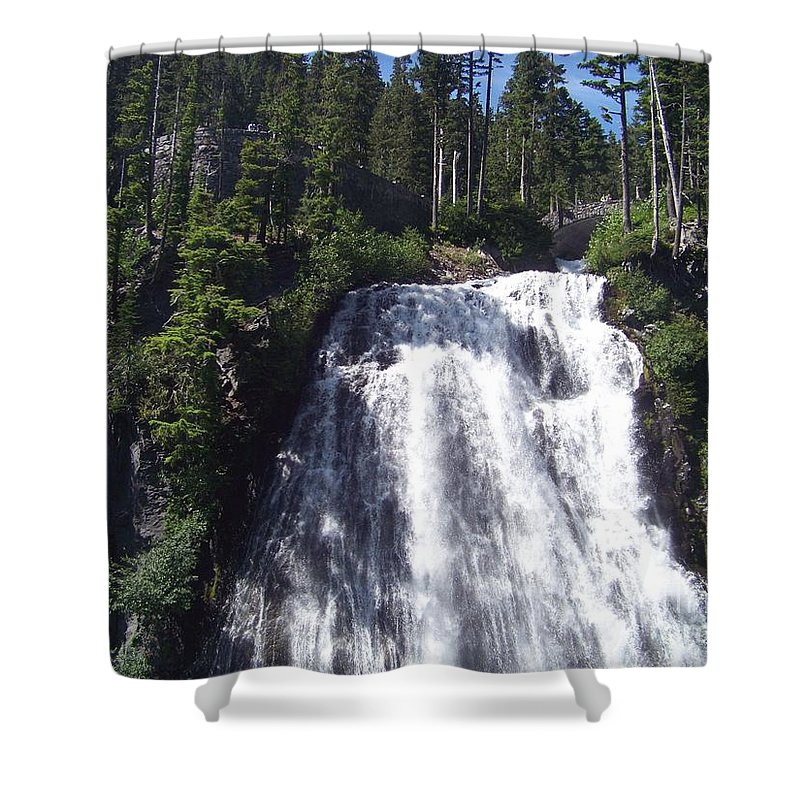 Waterfall Shower Curtain featuring the photograph Narada Falls by Charles Robinson