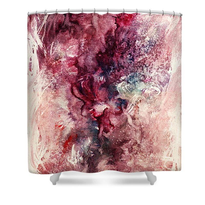 Floral Shower Curtain featuring the painting Narcissus by Rachel Christine Nowicki