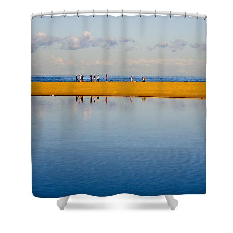 Dunes Lowry Sand Sky Reflection Sun Lifestyle Narrabeen Australia Shower Curtain featuring the photograph Narrabeen dunes by Sheila Smart Fine Art Photography