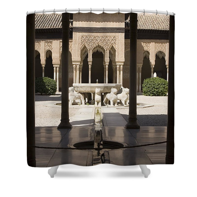 Alhambra Shower Curtain featuring the photograph Nasrid Palaces Alhambra Granada Spain Europe by Mal Bray