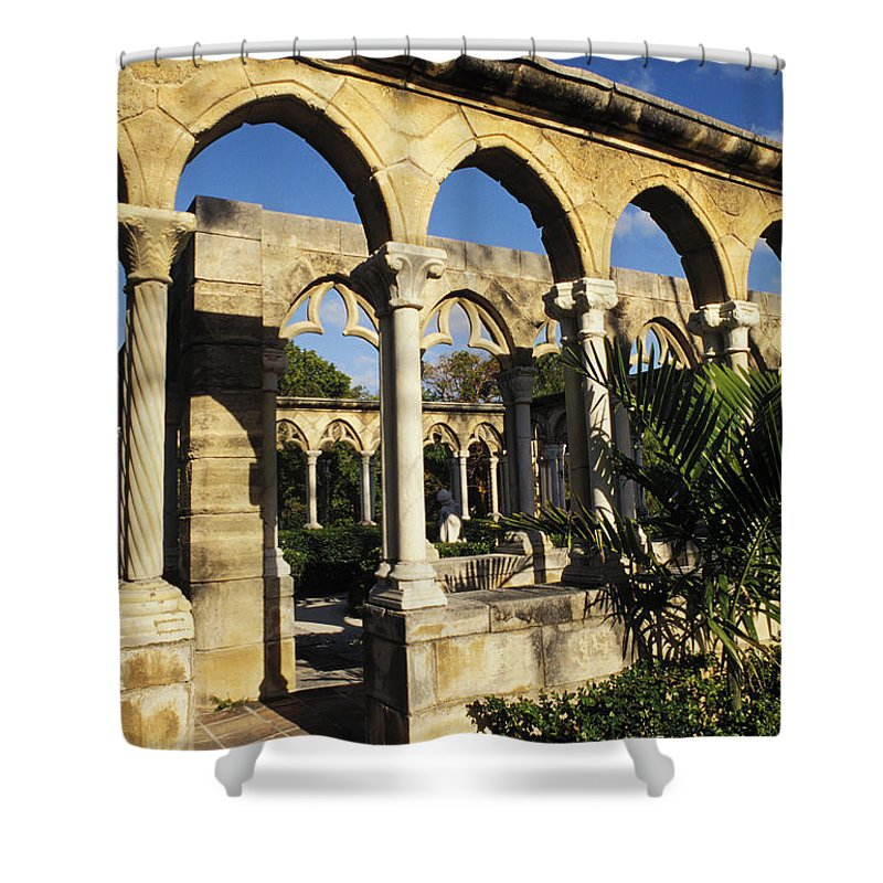 Afternoon Shower Curtain featuring the photograph Nassau Cloisters by Bill Bachmann - Printscapes