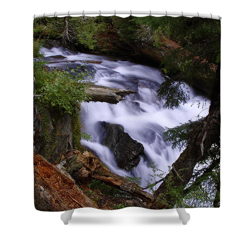 Waterfall Shower Curtain featuring the photograph National Creek Falls 03 by Peter Piatt