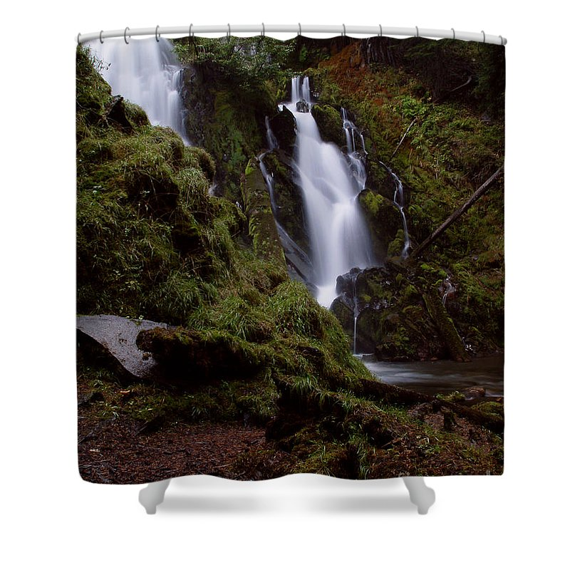 Waterfall Shower Curtain featuring the photograph National Creek Falls 04 by Peter Piatt