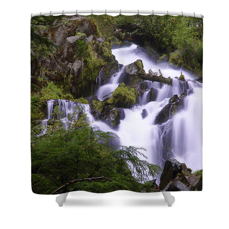 Waterfall Shower Curtain featuring the photograph National Creek Falls 05 by Peter Piatt