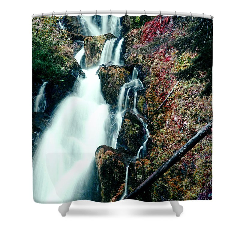 Waterfall Shower Curtain featuring the photograph National Creek Falls 07 by Peter Piatt