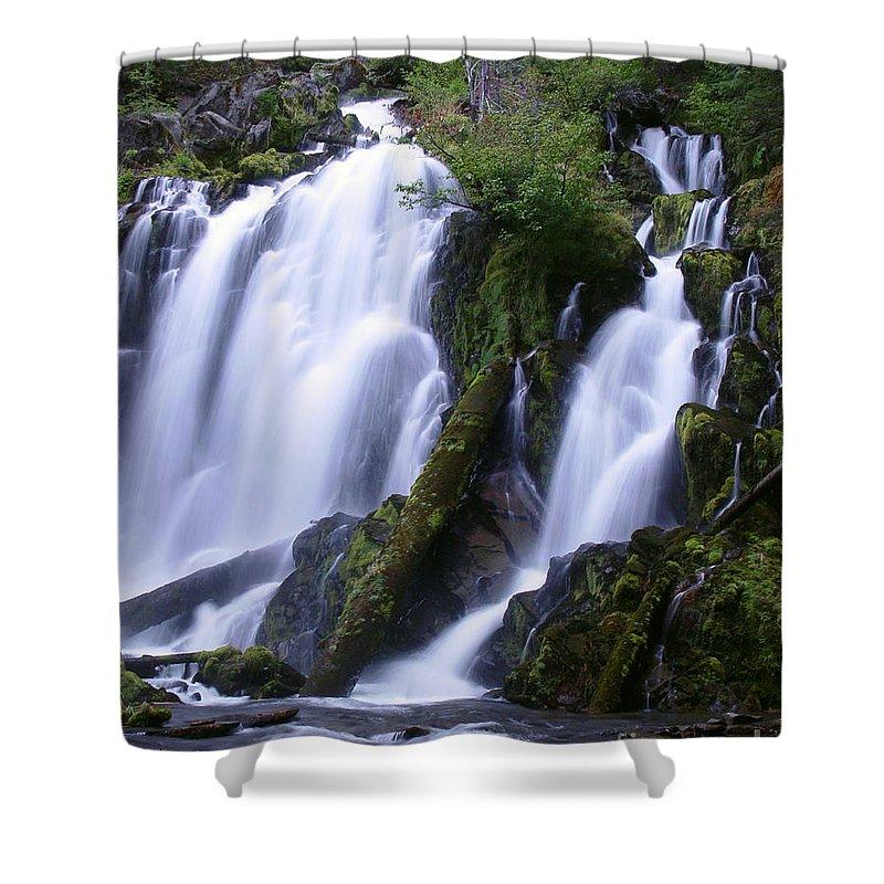 Waterfall Shower Curtain featuring the photograph National Creek Falls 09 by Peter Piatt
