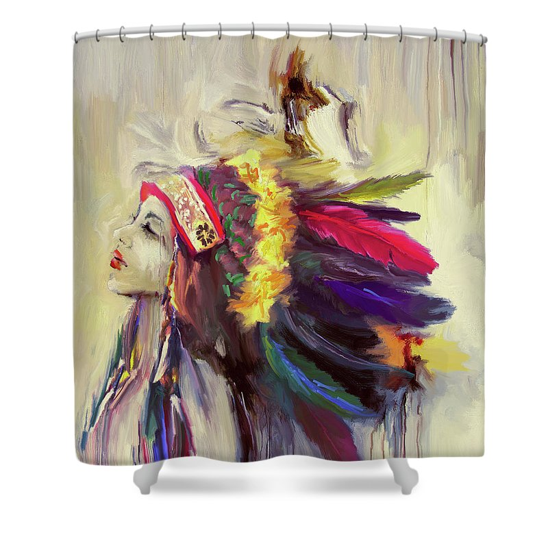 Mardi Gras Indian Shower Curtains