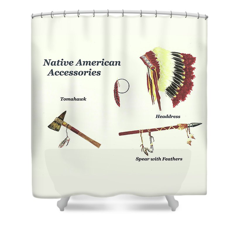Ative American Shower Curtain Featuring The Painting Native Accessories By Michael Vigliotti