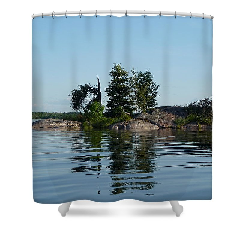 Lake Shower Curtain featuring the photograph Natural Breakwater by Ruth Kamenev
