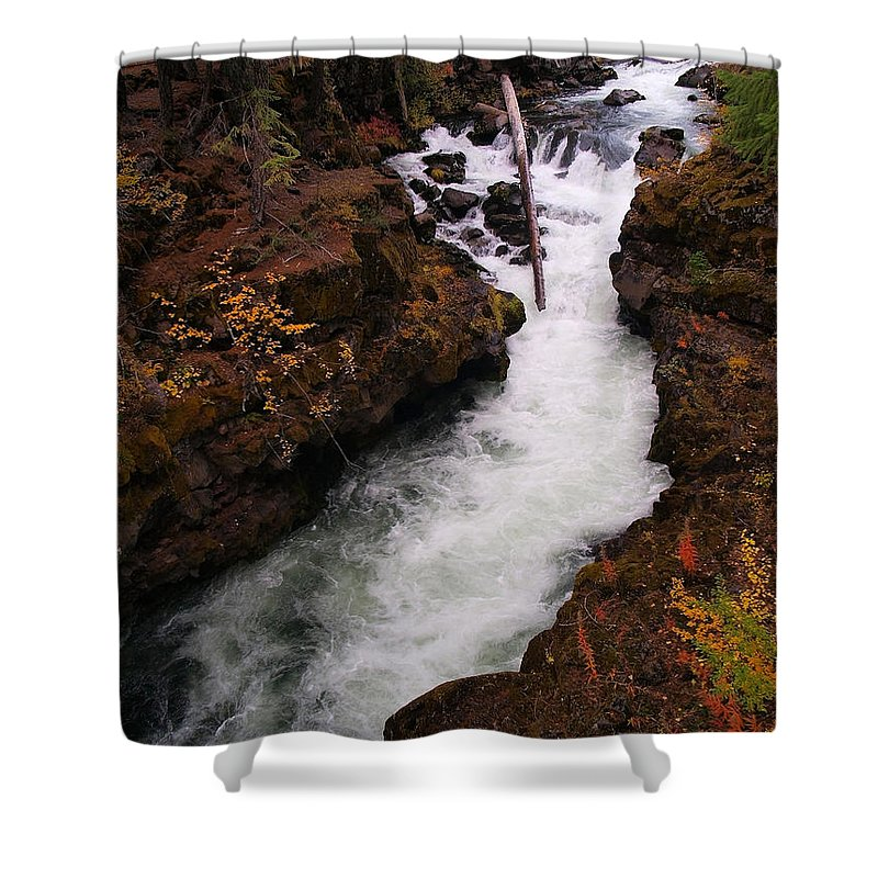 Water Shower Curtain featuring the photograph Natural Bridge Gorge by Teri Schuster