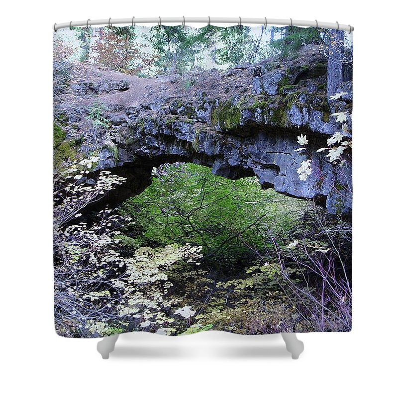 Natural Bridge Shower Curtain featuring the photograph Natural Bridge Two  by Jeff Swan