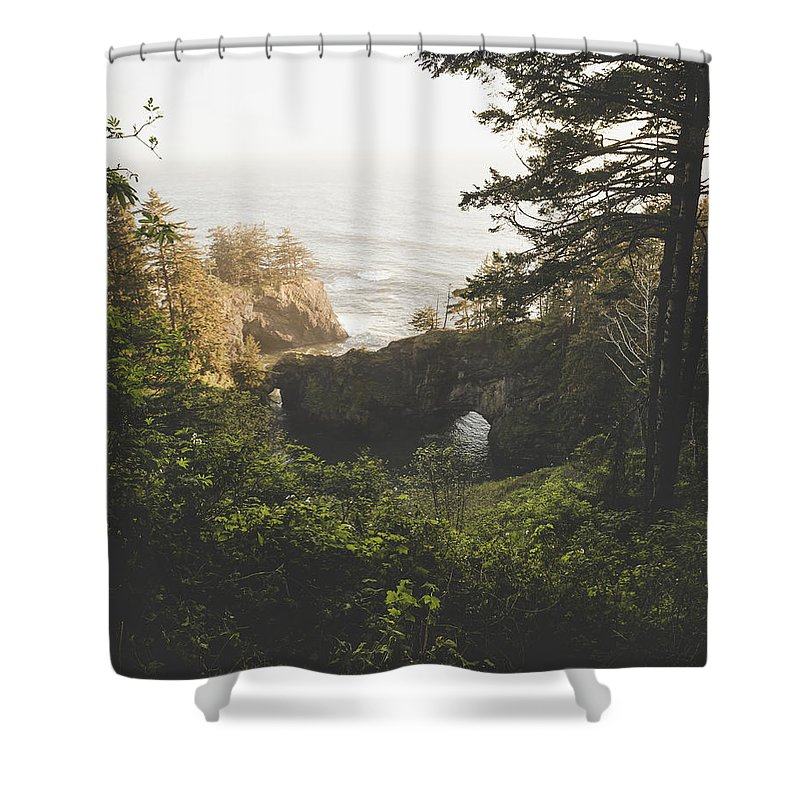 Oregon Shower Curtain featuring the photograph Natural Bridges Cove by Chad Gray