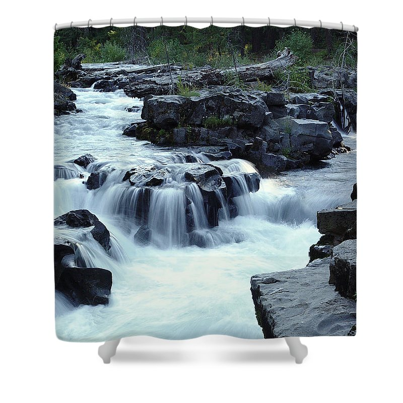 Waterfall Shower Curtain featuring the photograph Natural Bridges Falls 03 by Peter Piatt