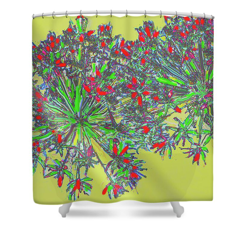 Abstract Shower Curtain featuring the digital art Natural Spiral by Ian MacDonald
