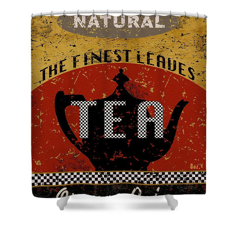 Tea Shower Curtain featuring the mixed media Natural Tea by Marilu Windvand