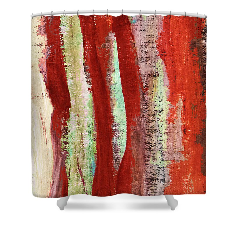 Paintings Shower Curtain featuring the painting Natural Textures by Dori Sanz
