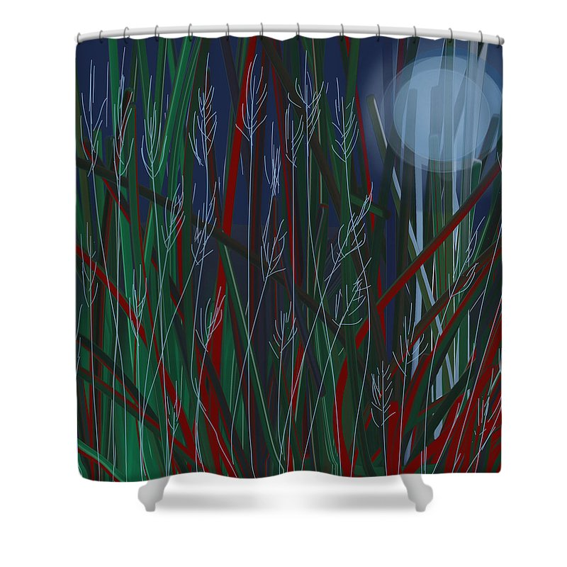 Landscape Shower Curtain featuring the digital art Nature by Dennis Casto