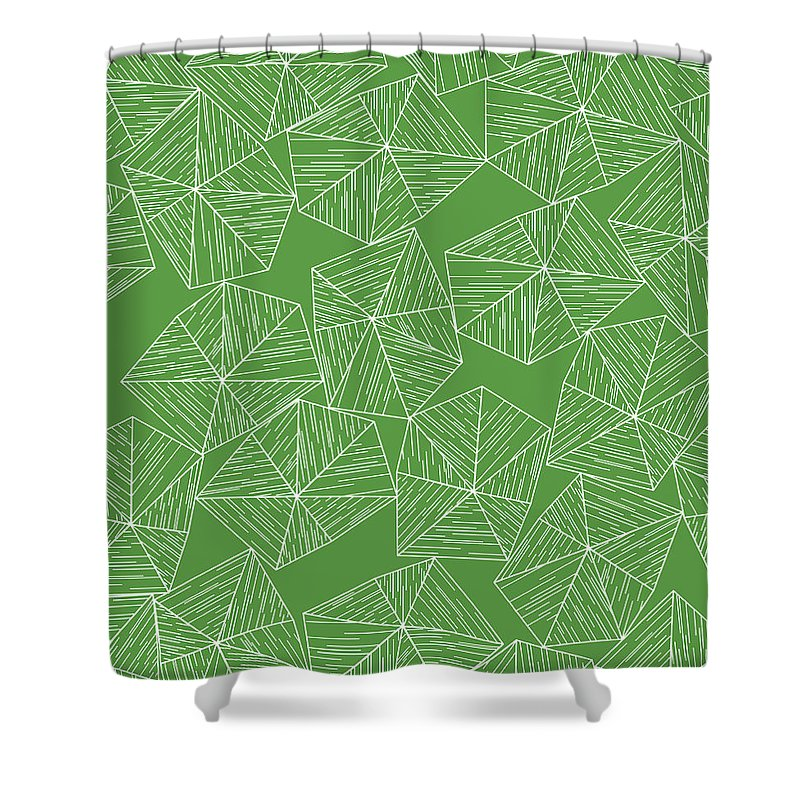 Green Shower Curtain featuring the digital art Nature Free by Icto Design