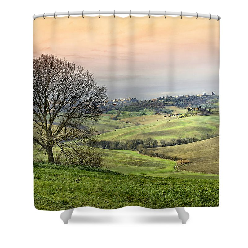 Italy Shower Curtain featuring the photograph Nature Paints by Mauro Maione