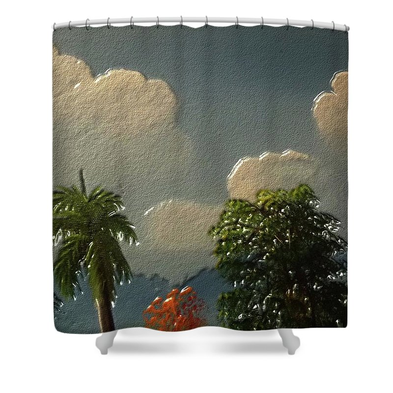 Nature Shower Curtain featuring the digital art Nature by Urgue
