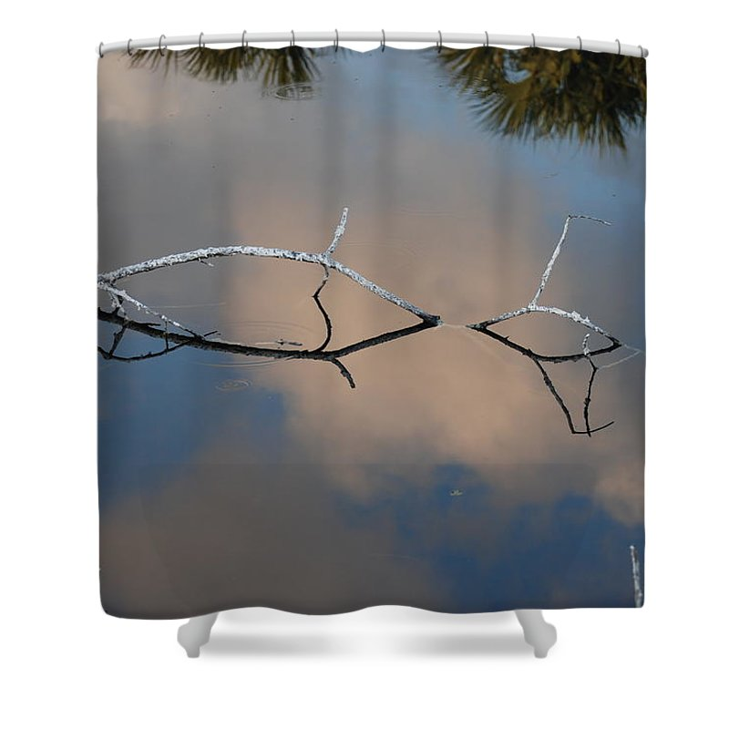Pink Shower Curtain featuring the photograph Natures Bridge In Color by Rob Hans