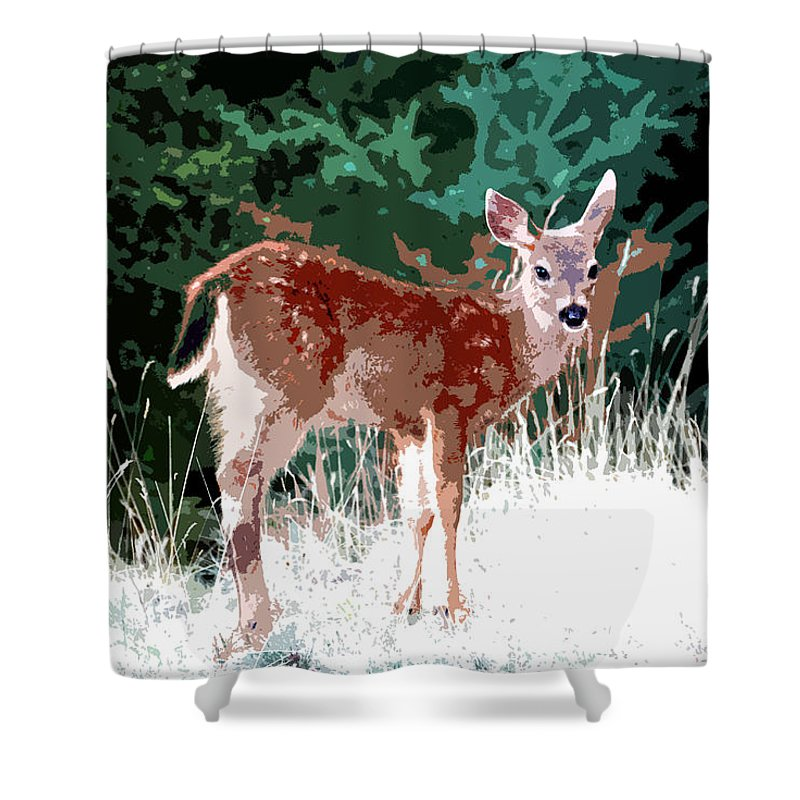 Dear Shower Curtain featuring the painting Natures Child by David Lee Thompson