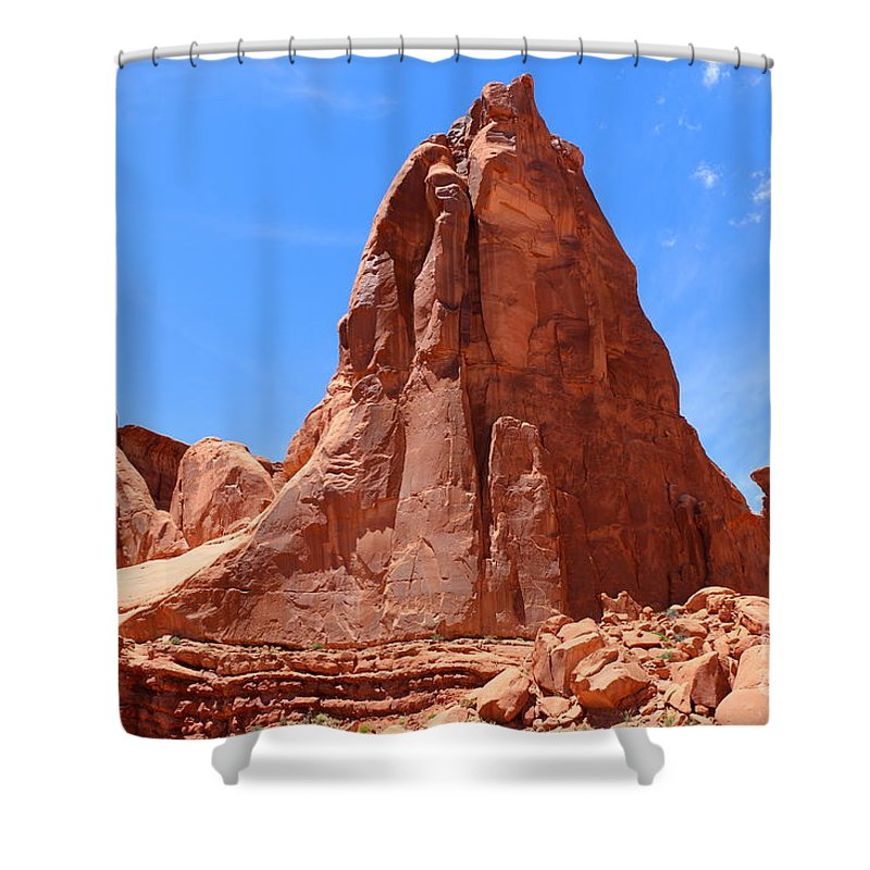 America Shower Curtain featuring the photograph Nature's Curves by Christiane Schulze Art And Photography