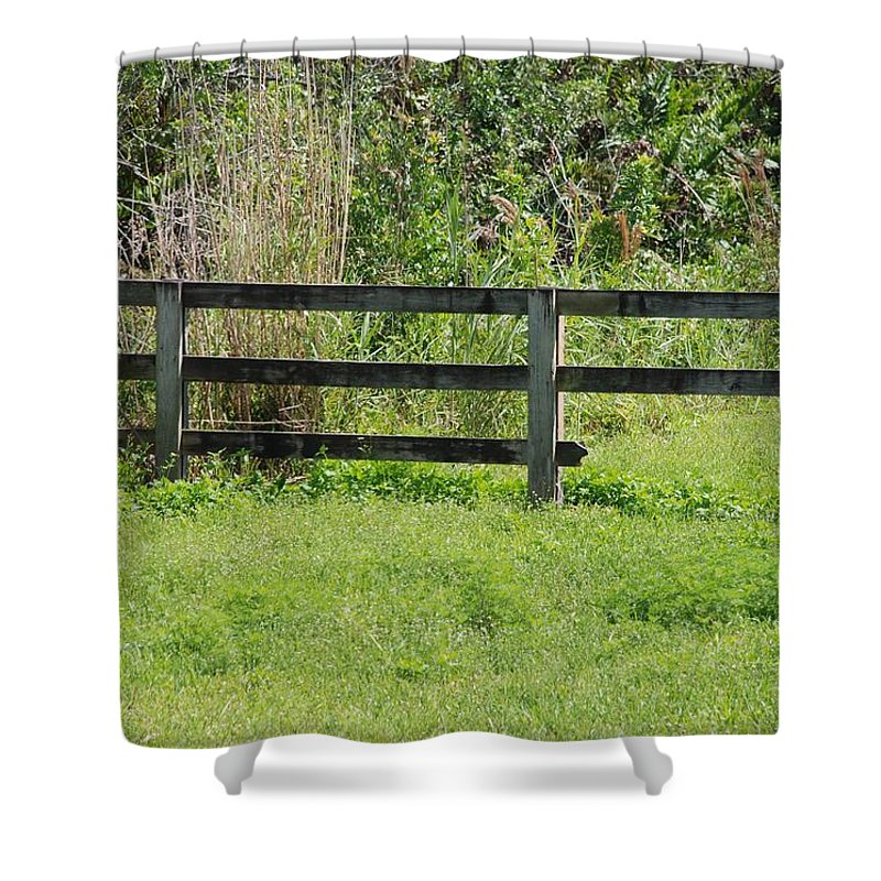 Fence Shower Curtain featuring the photograph Natures Fence by Rob Hans