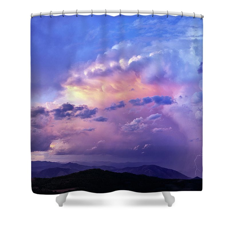 Thunder Shower Shower Curtain featuring the photograph Natures Glory by Leland D Howard