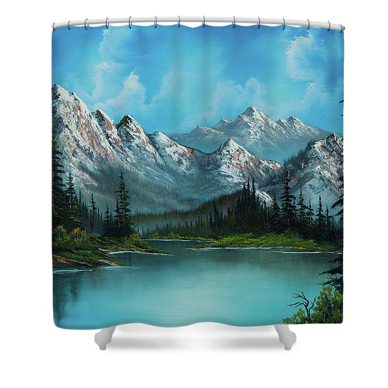 Rocky Mountains Paintings Shower Curtains