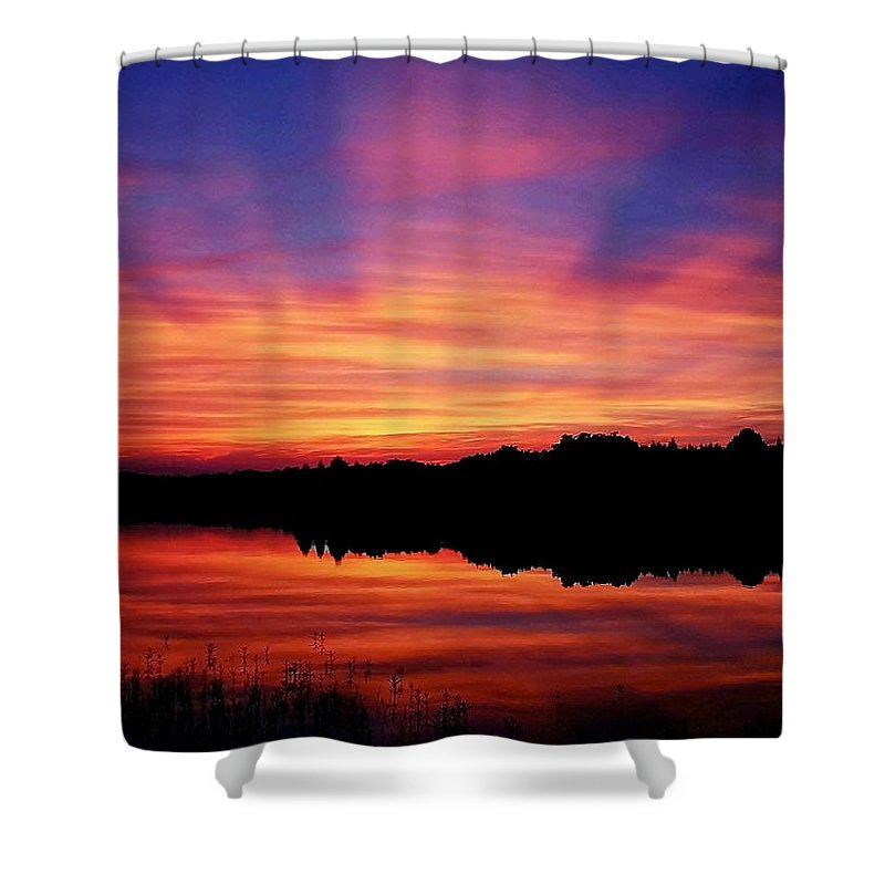 Landscape Shower Curtain featuring the photograph Nature's Invention by Mitch Cat