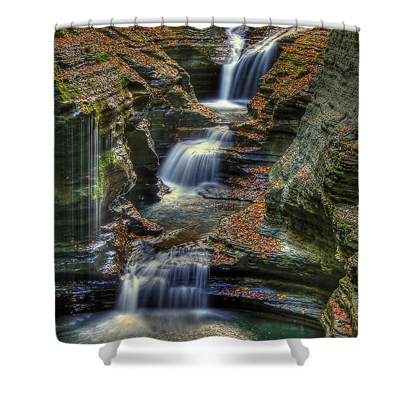 Water Shower Curtain featuring the photograph Nature's Tears by Evelina Kremsdorf