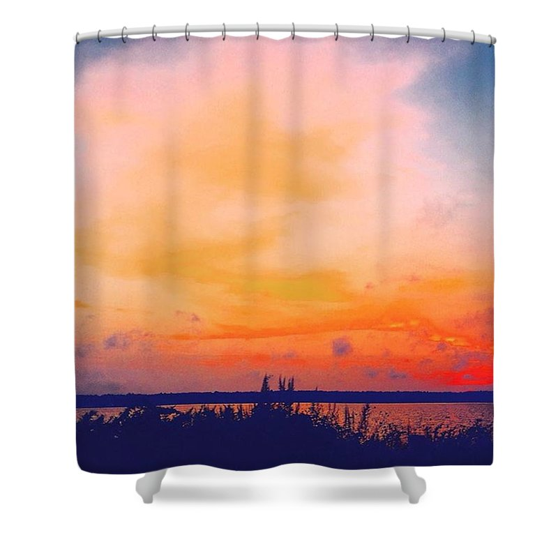 Massachusetts Shower Curtain featuring the photograph Southcoast Sunset by Kate Arsenault