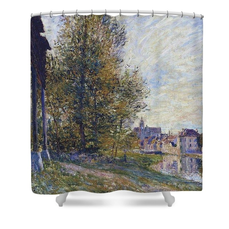 Near Moret-sur-loing Shower Curtain featuring the painting Near Moret by MotionAge Designs