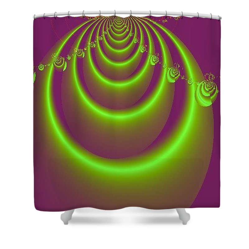Digital Art Shower Curtain featuring the digital art Necklace by Dragica Micki Fortuna