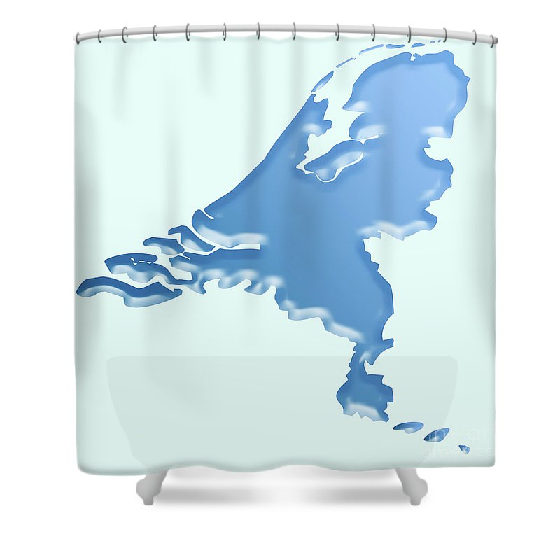 Dutch Shower Curtain featuring the digital art Nederland Waterland by Richard Wareham