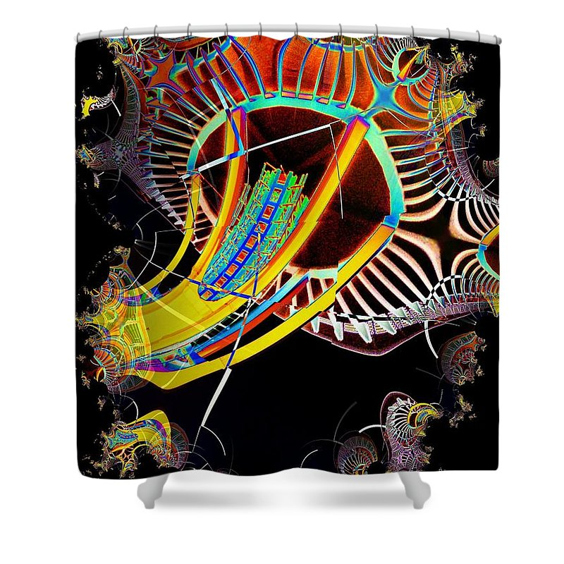 Seattle Shower Curtain featuring the photograph Needle In Fractal 2 by Tim Allen