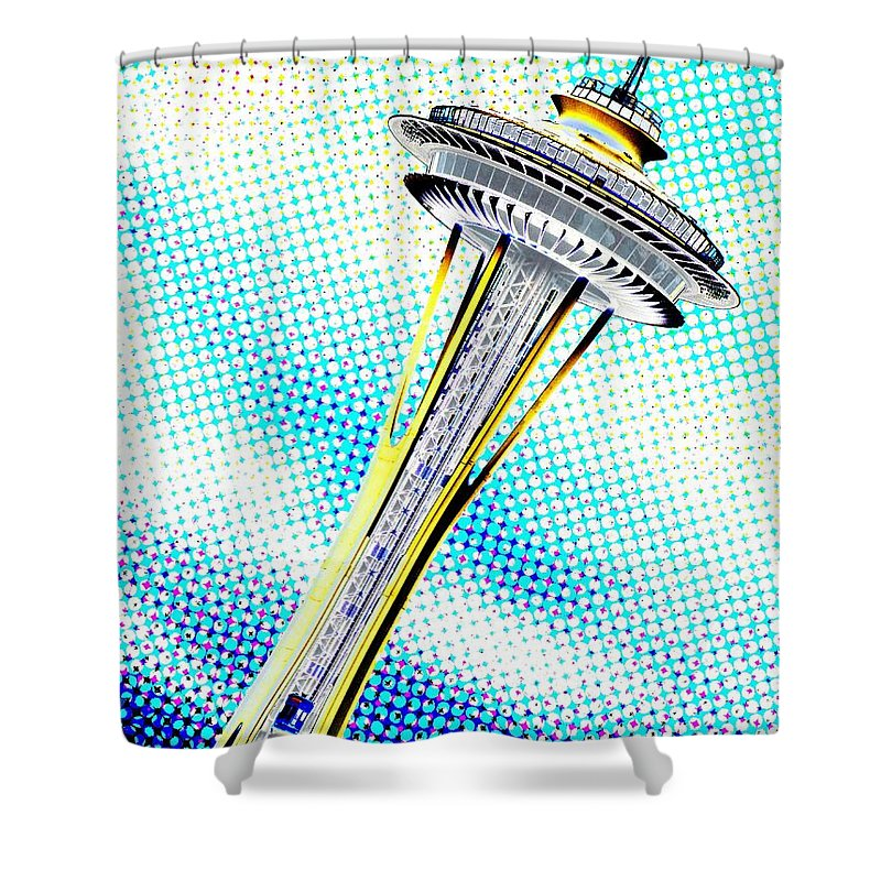 Seattle Shower Curtain featuring the photograph Needle In Newsprint by Tim Allen