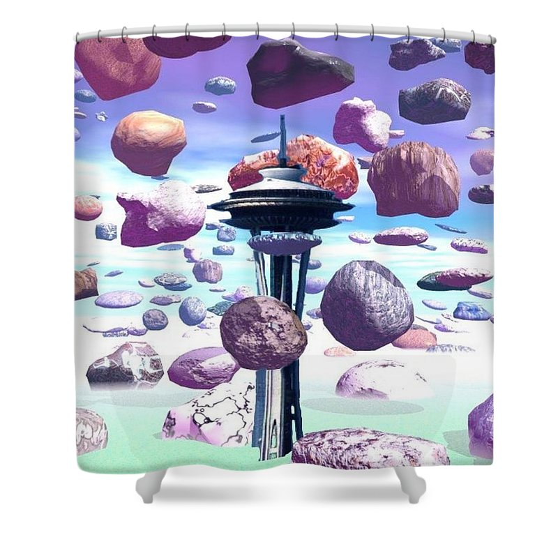 Seattle Shower Curtain featuring the photograph Needle Rocks by Tim Allen