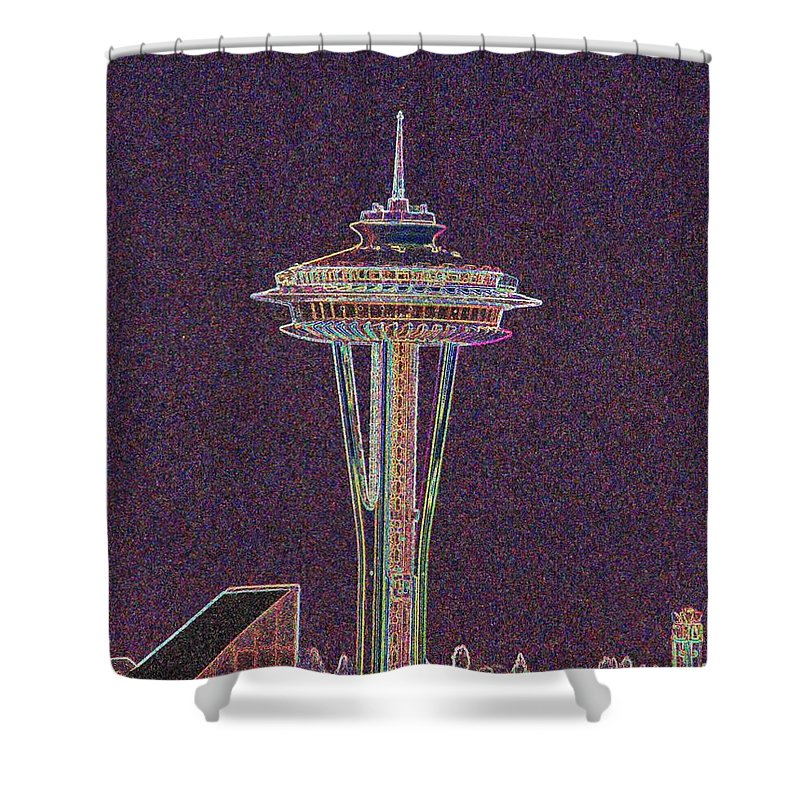 Seattle Shower Curtain featuring the photograph Needle by Tim Allen
