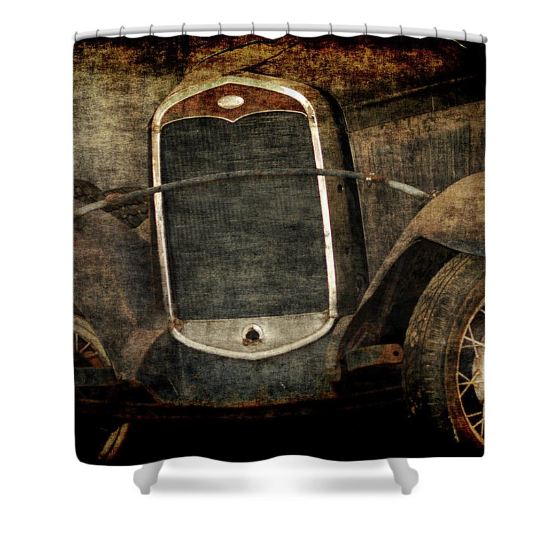 Old Fords Shower Curtain featuring the photograph Needs Help by Ernie Echols