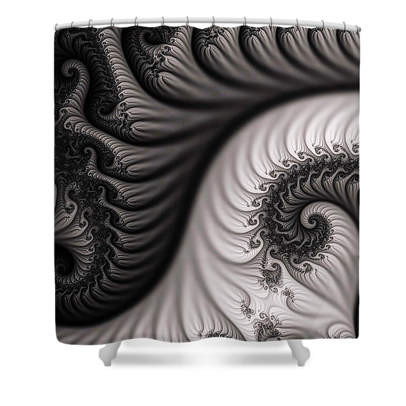 Clay Shower Curtain featuring the digital art Neighborhood by Clayton Bruster
