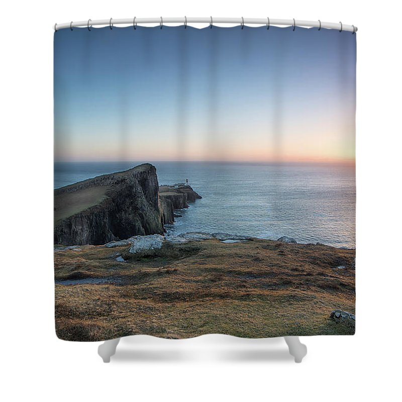 Neist Point Shower Curtain featuring the photograph Neist Point Sunset by Keith Thorburn LRPS AFIAP CPAGB