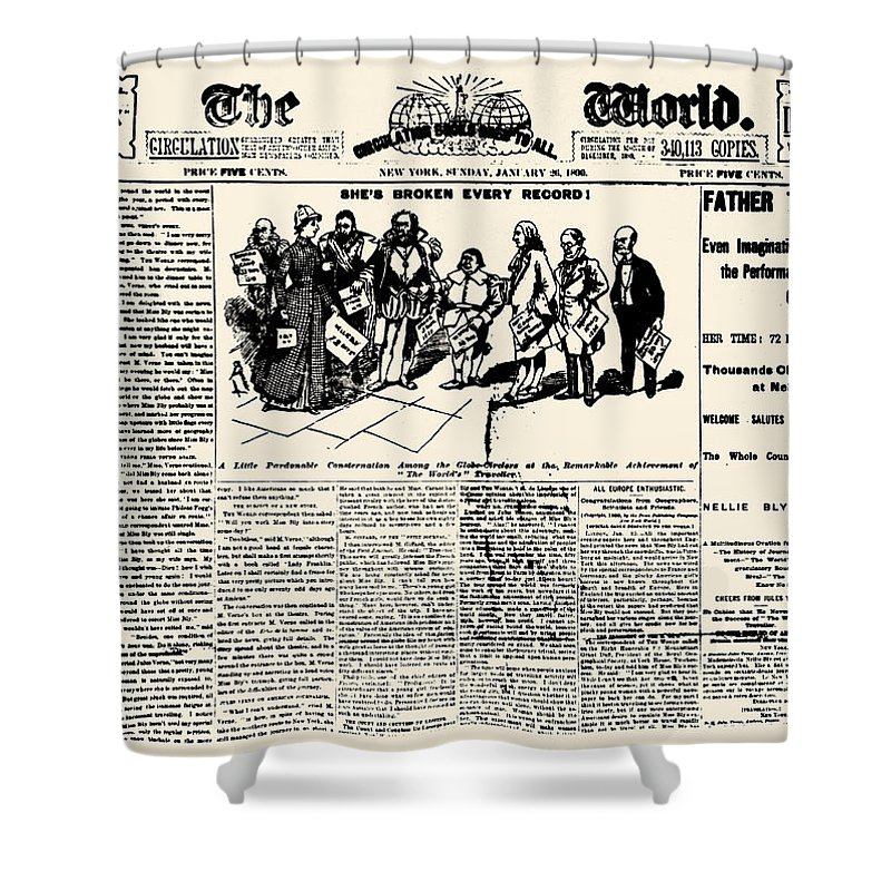 1890 Shower Curtain featuring the photograph Nellie Bly (1867-1922) by Granger
