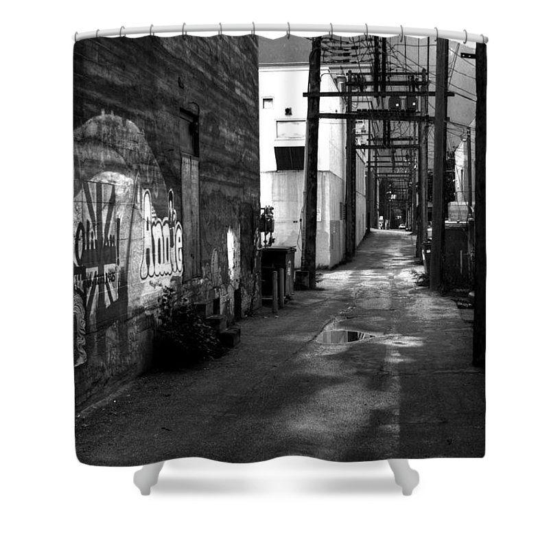 British Columbia Shower Curtain featuring the photograph Nelson Bc Alley by Lee Santa