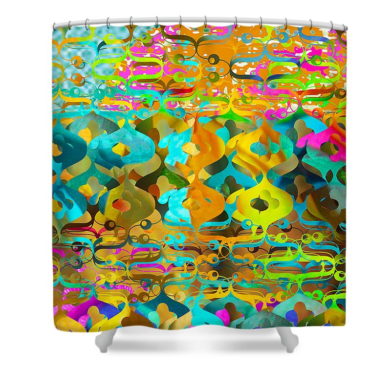 Abstract Shower Curtain featuring the digital art Nemo by Ceil Diskin