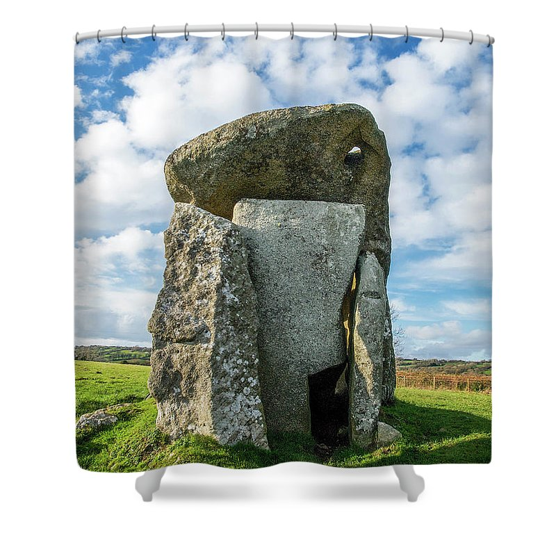 Architecture Shower Curtain featuring the photograph Neolithic Modern by Sallye Wilkinson
